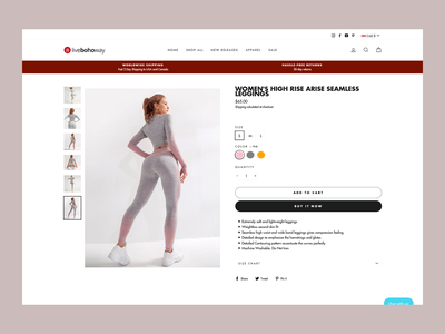 Clothing Ecommerce Shopify Product Detailed Page Design app webflow woocommerce shopping app page website ecommerce app store product page ux ui shopify store clean minimal online store women shop shopping shopify ecommerce