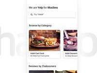 Zhaboom homepage concept