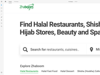 Redesign on Adobe XD | Zhaboom.com