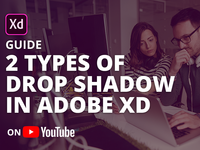 2 different types of drop shadow in Adobe XD