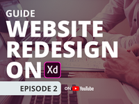 Website Redesign on Adobe XD | Ep 2