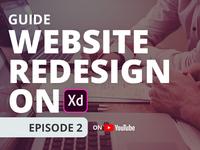 Website Redesign on Adobe XD | Ep 2