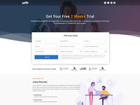Landing Page Desktop UI Design