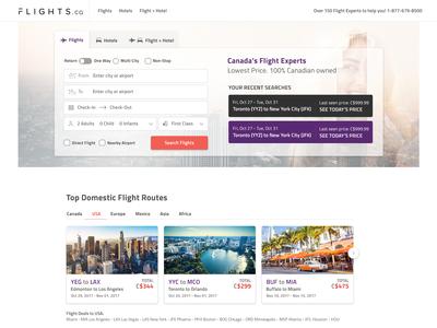 Flights.ca Desktop Redesign