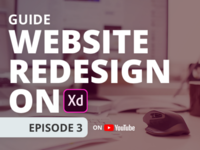 Website Redesign on Adobe XD Episode 3