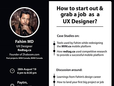 My First Talk In Toronto August 28 2019 By Fahim Md On Dribbble