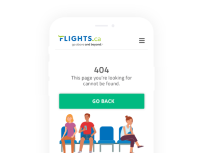 Flight 404 Page - App mobile clean design ux design user interface user experience ui ux app flights 404 error page 404 page 404