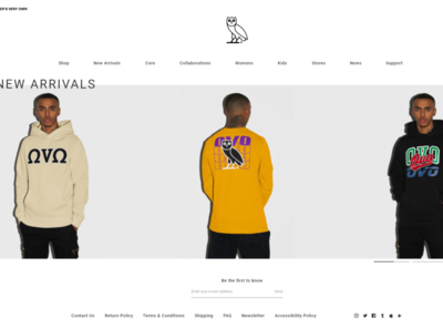 Drake's Website on Adobe XD ovo online shop ecommerce design ecommerce octobersveryown drake ui design adobexd clean ux design design user interface user experience ux ui