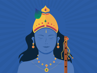 Lord Krishna flute janmashtami feather peacock blue jewellery gold hinduism god of war hindu krishna god