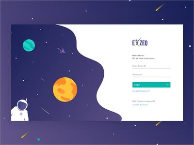 Space theme login