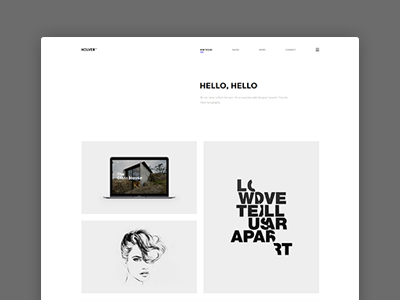 Holver - Minimal Portfolio Website Theme showcase clapat website theme portfolio minimal clean agency