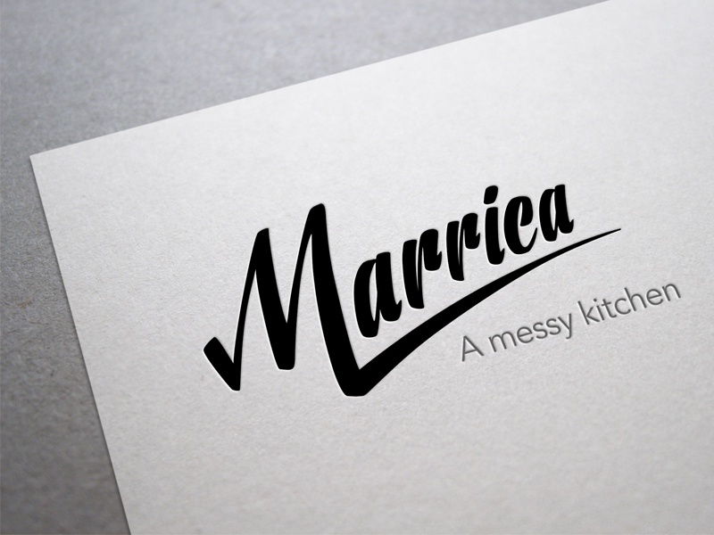 Marrica Logo branding handwritten food logo