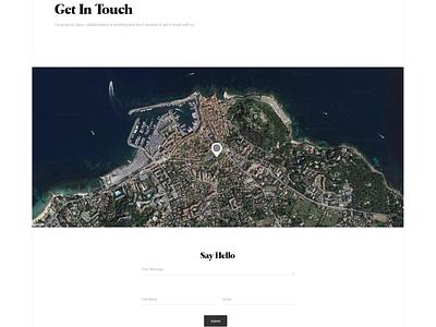 Enfolio showcase clapat website psd portfolio minimal template