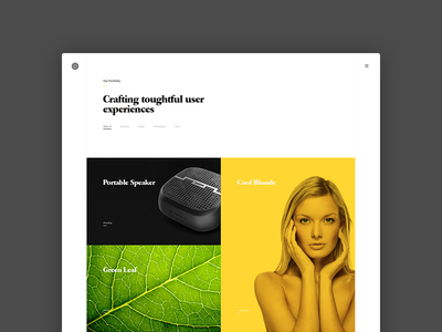 Enfolio showcase clapat website psd portfolio minimal template