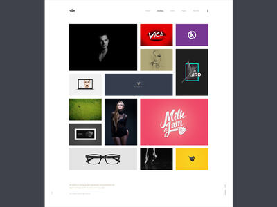 Villar Portfolio showcase clapat website theme portfolio minimal clean agency