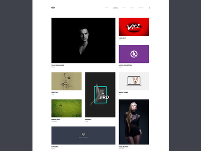 Villar Portfolio Second Grid Style showcase clapat website theme portfolio minimal clean agency