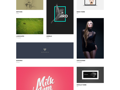 Villar Portfolio Second Grid Style showcase clapat website theme portfolio minimal clean agency