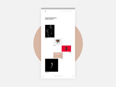 Tetris Portfolio Website showcase minimal agency layout masonry grid portfolio