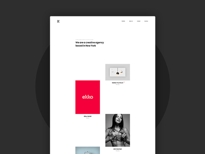 Kaleo - Creative Portfolio Template minimal masonry layout grid agency showcase portfolio