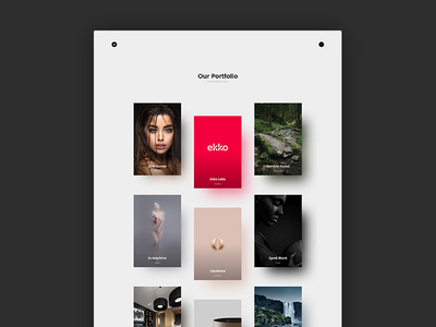 Wizzaro - Portfolio Theme minimal masonry layout grid agency showcase portfolio