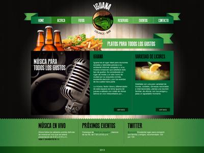 Iguana Web 2 web iguana lounge bar ui website