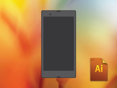 Phone and Tablet Vector Freebie free freebie vector ai illustrator tablet phone download