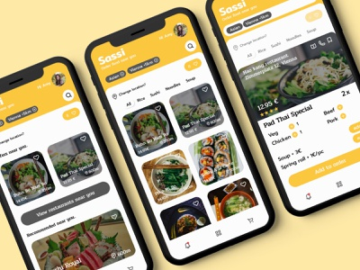 Food ordering mobile app UI design study design ui food food delivery