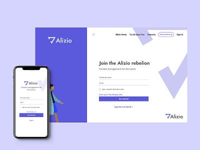 Alizio-UI landing page ui ux landing page design