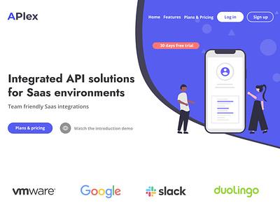 Saas web template UI ui saas design html template