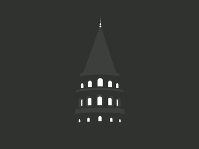 Galata Tower galata tourism architecture inkscape flat logo tower turkey istanbul minimal vector
