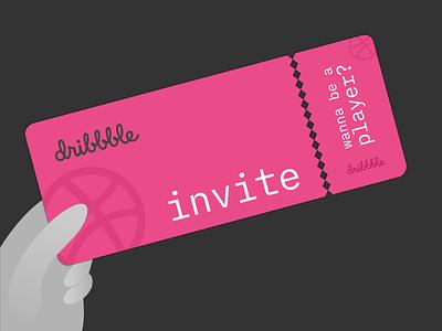 1 Dribbble invite inkscape invitation card dribbble invite