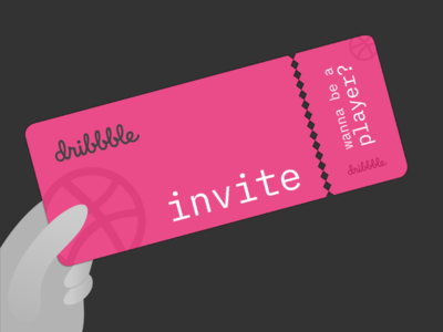 1 Dribbble invite inkscape invitation card dribbble invite