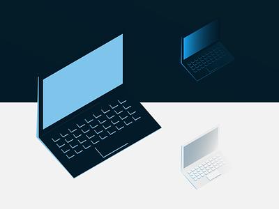 Contrast flat  design flat gradient vector inkscape minimal negative space logo negative space illustration