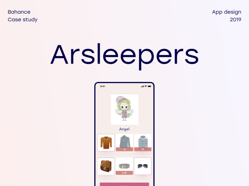 Arsleepers ar kids children design mobile interface ux