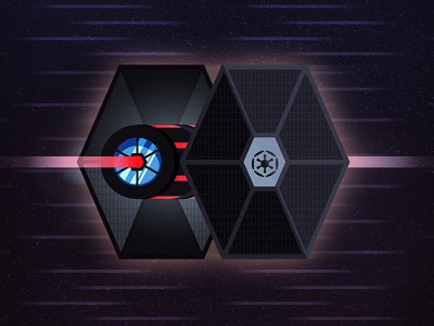 Tie Fighter vector star wars tie fighter battle illustration hyperspace rebels imperial red light