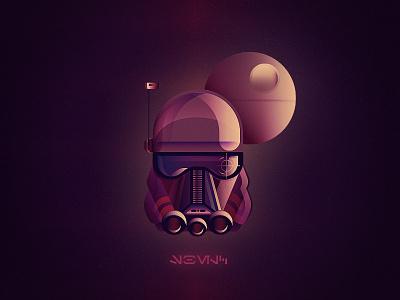 Dark Trooper clone vector space dark colors gradient death star trooper star wars
