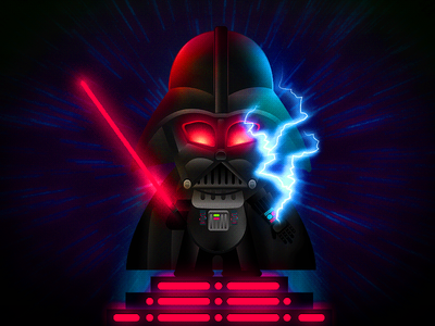 Darth Vader darth big toy dark texture bitmap lightsaber lightning dark side force vader star wars