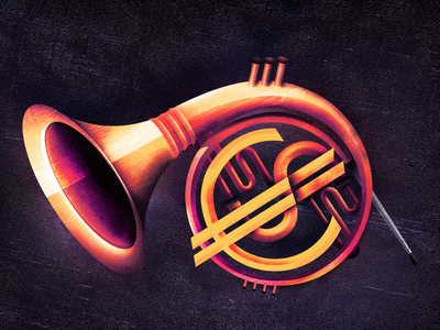 The Postman's Horn  currency euro dollar behance poster advertising financial banking music vintage editorial vector