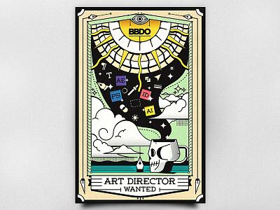 Art Director Wanted job illustrator magic vector bbdo advertising director card tarot designer wanted art director