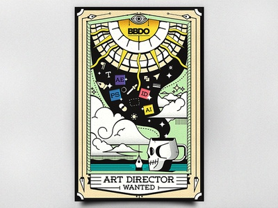 Art Director Wanted job illustrator magic vector bbdo advertising director card tarot designer wanted art director