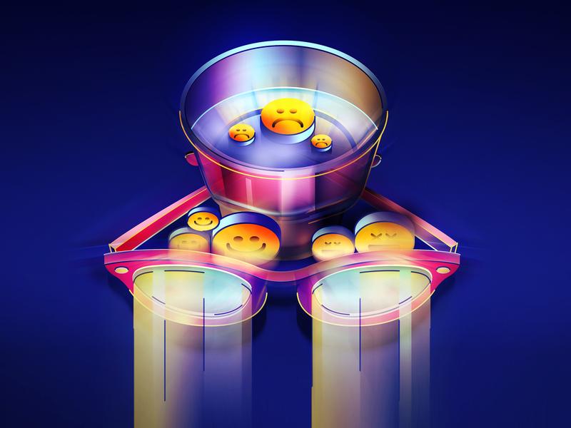 V D K & I N T R N T dribbble texture stroke colors glass vodka icons emojis neon light neon design isometric illustration vector