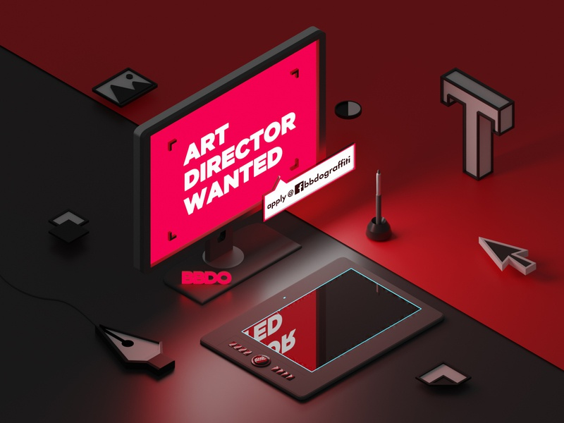 Art Director Wanted proffesional wanted 3d artist designer bbdo director art advertising