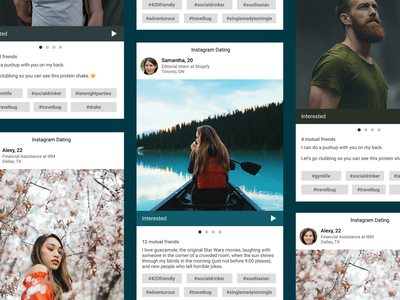 Instagram Dating - Mockup uiux instagram dating mockup design
