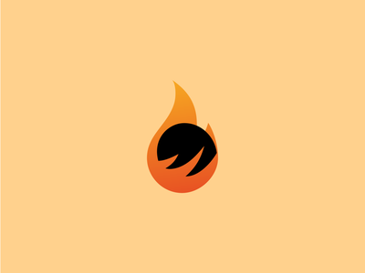 Flameon branding minimal illustration logo