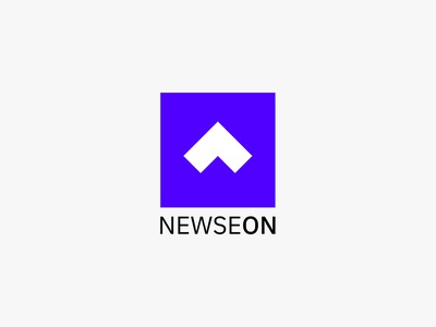 Newseon - Logo vector logo typogaphy purple minimal design