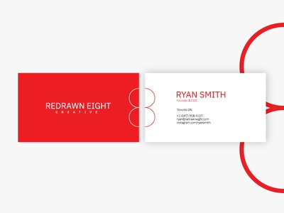 Redrawn Eight Creative Business Card minimal onboarding design business card