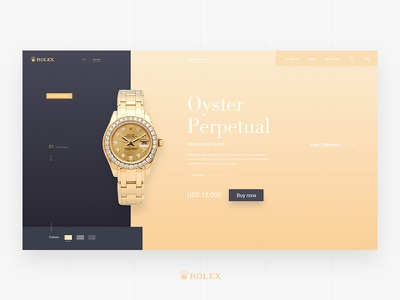 Rolex Website Concept buy sketch responsive website ui ux ecommerce clock watch rolex