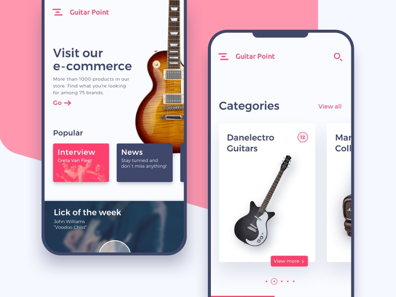 Music Store Part III - Mobile by Nicolás Fiasche on Dribbble