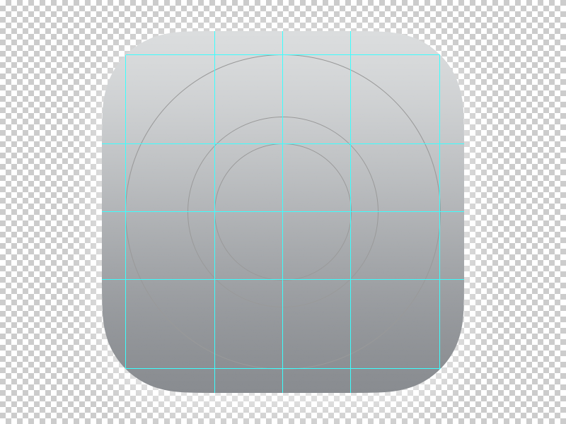 ios 7 ocd app icon template grid by courtney dribbble