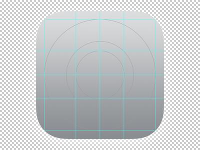 iOS 7 OCD App Icon Template Grid